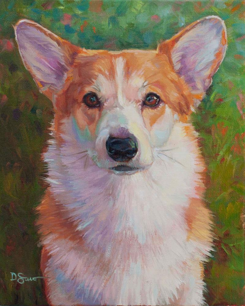 """Grady"" original fine art by Deborah Savo"