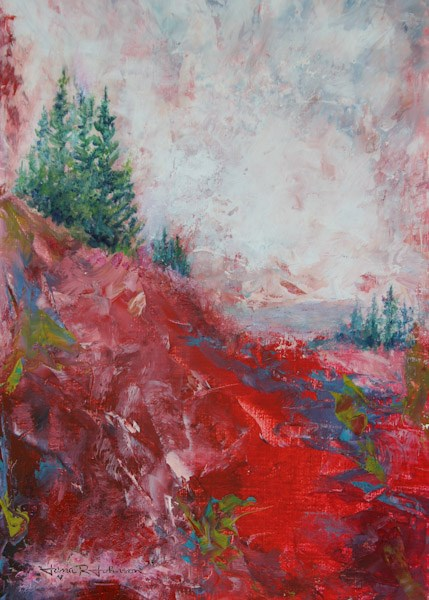 """Fire On The Mountain"" original fine art by Jana Johnson"