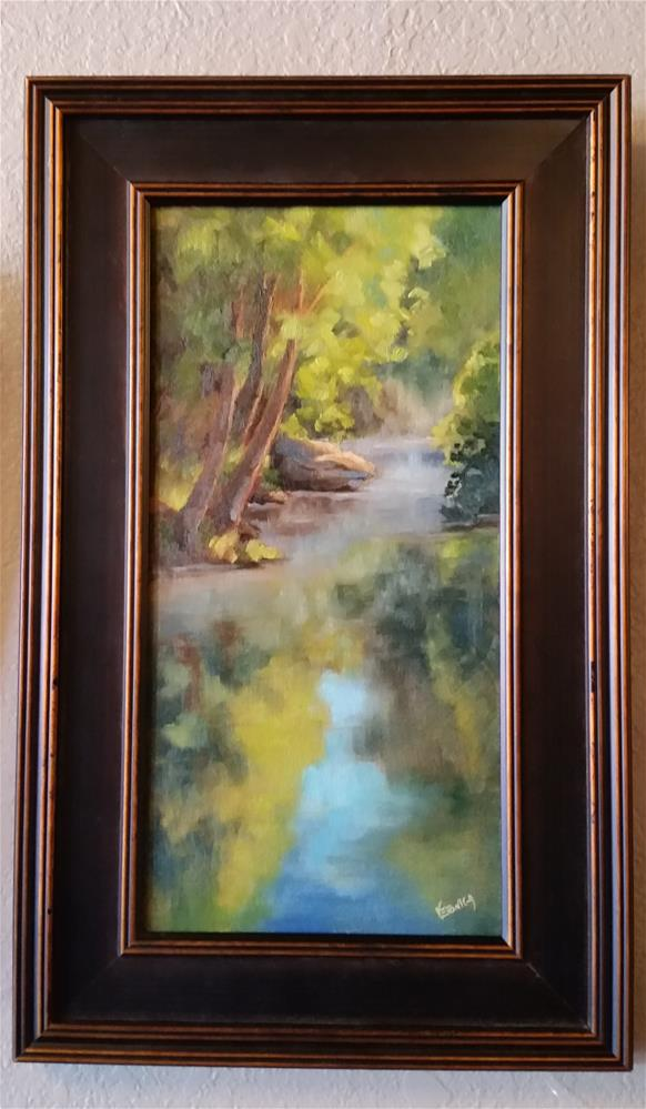 """Rising Mist on Dry Fork"" original fine art by Veronica Brown"