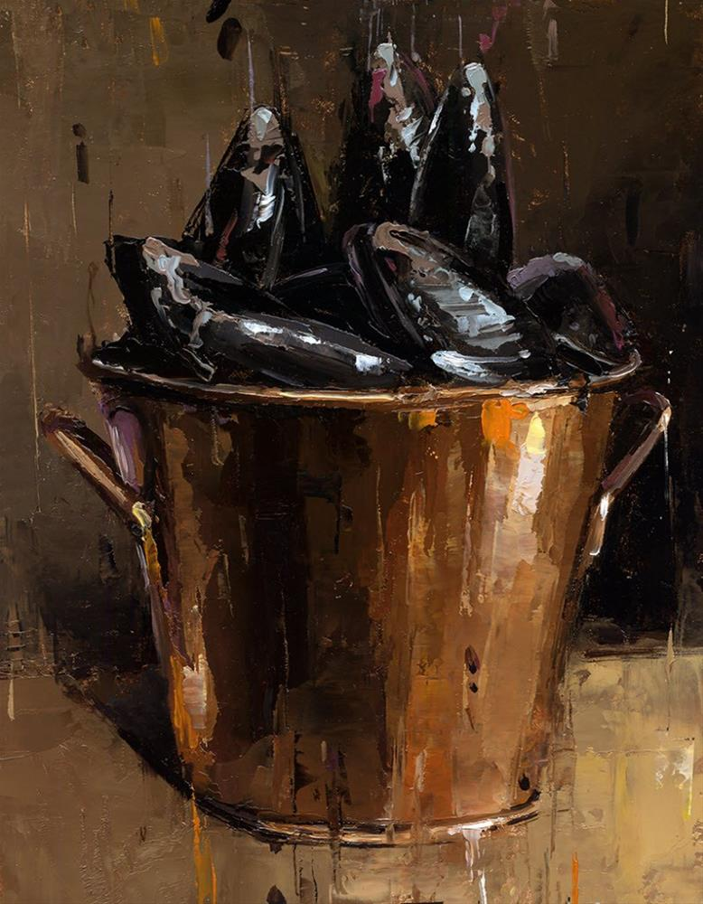 """""""Mussels"""" original fine art by Victor Bauer"""