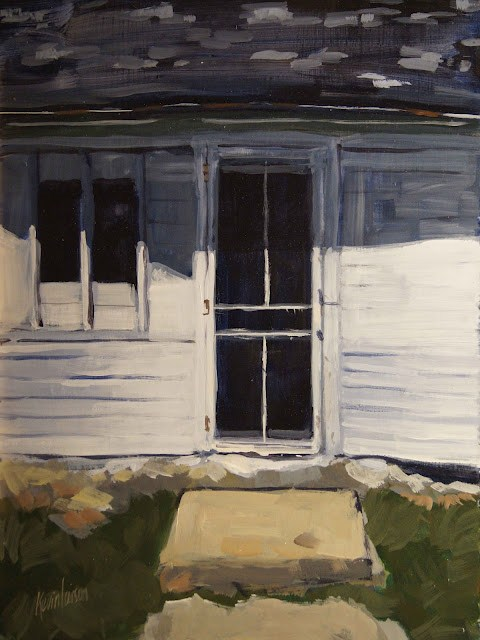 """Farm House Screen Door"" original fine art by Kevin Larson"