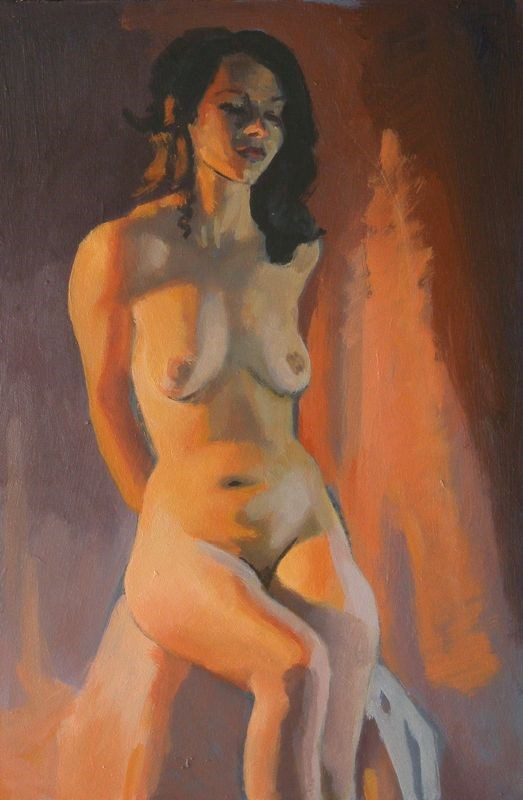"""SEated"" original fine art by Peter Orrock"