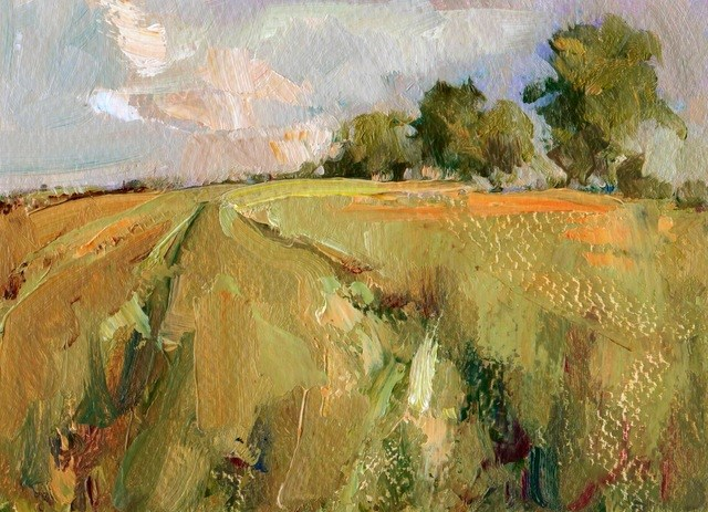 """Spring Fields"" original fine art by Anne Wood"