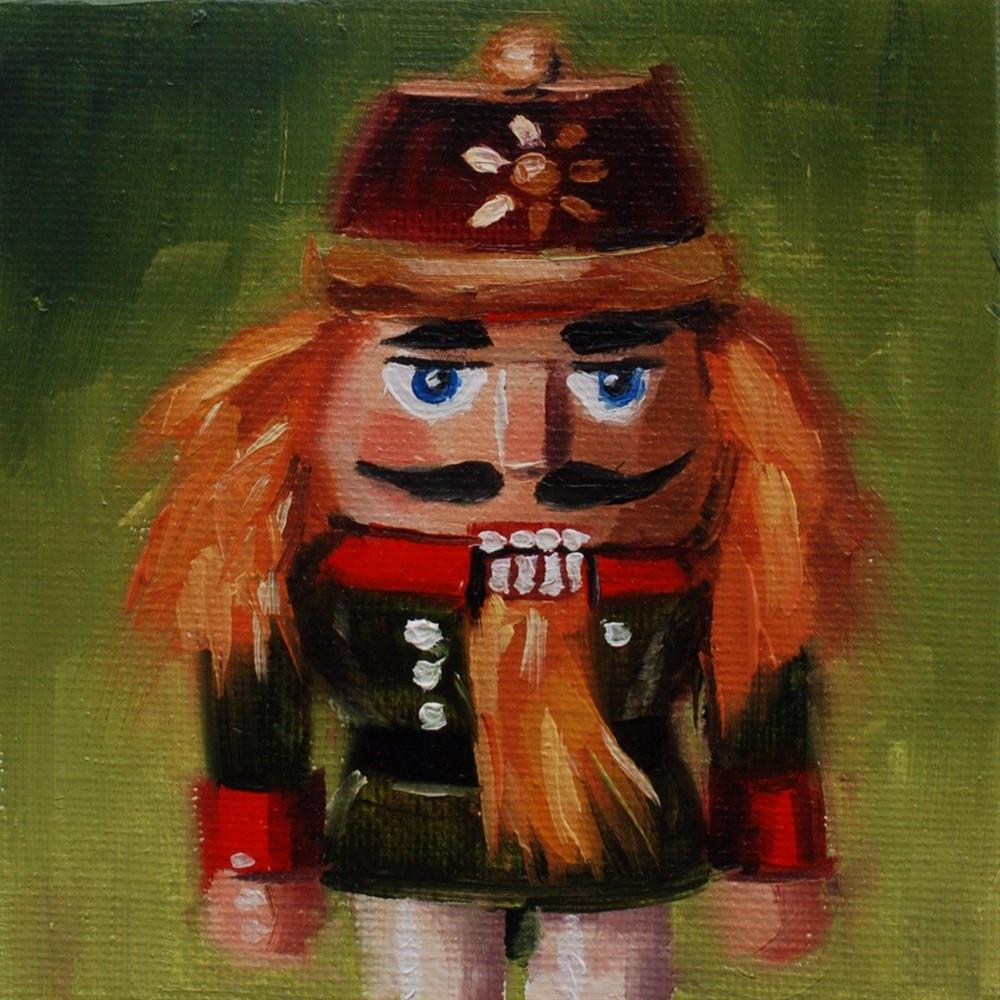 """No. 531 Mini Nutcracker #4"" original fine art by Susan McManamen"