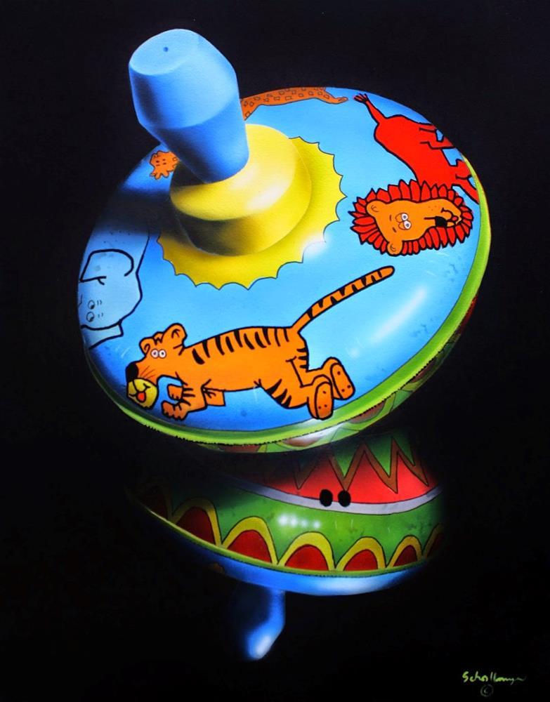 """Animal Top in Shadows"" original fine art by Fred Schollmeyer"