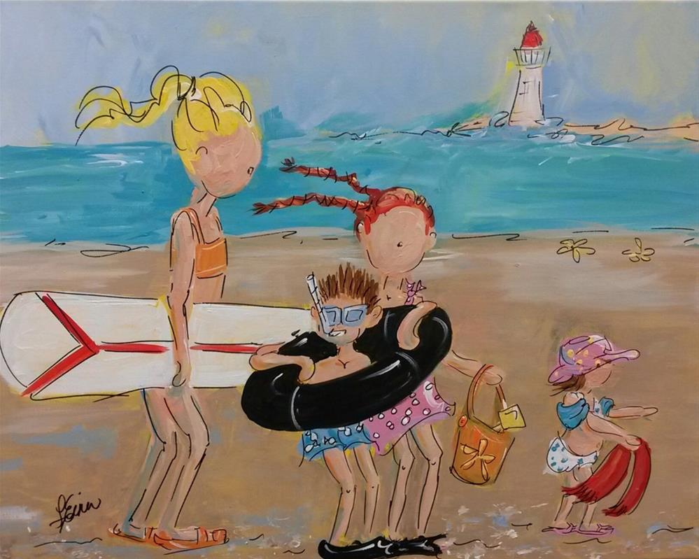 """To the Beach"" original fine art by Terri Einer"
