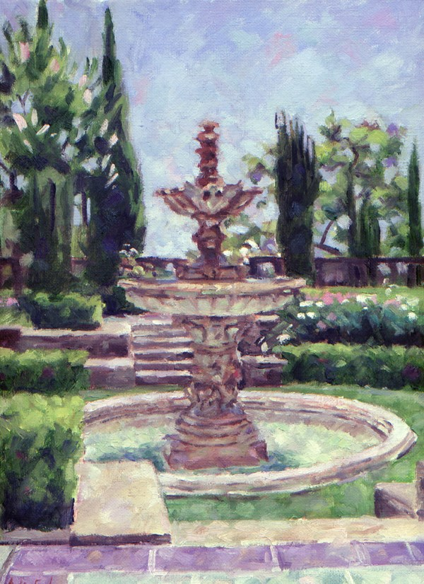 """Greystone Fountain"" original fine art by Audra Esch"