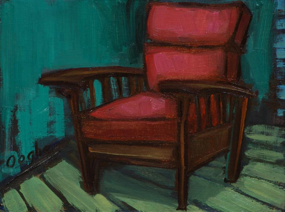 """Leather Chair"" original fine art by Angela Ooghe"