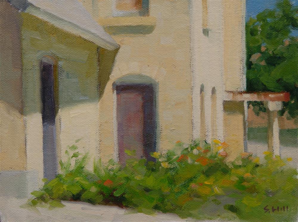 """""""Back Door 6x8"""" original fine art by Sharon Will"""