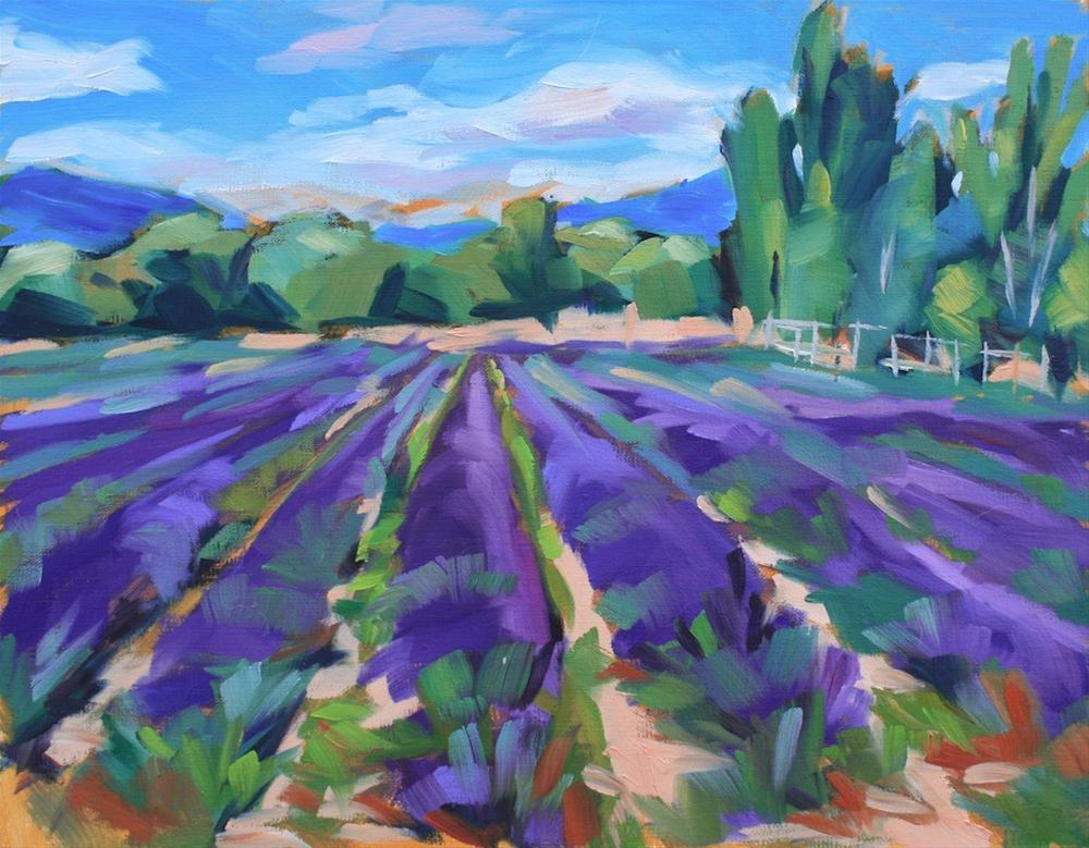 """Provence and Lavender"" original fine art by Mary Anne Cary"