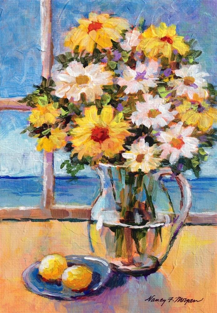 """Bayside Bouquet"" original fine art by Nancy F. Morgan"