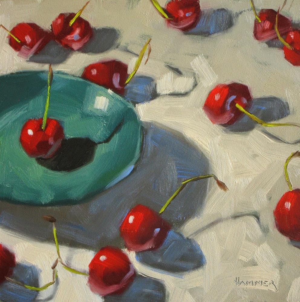 """Where did she go? 6x6  oil"" original fine art by Claudia Hammer"
