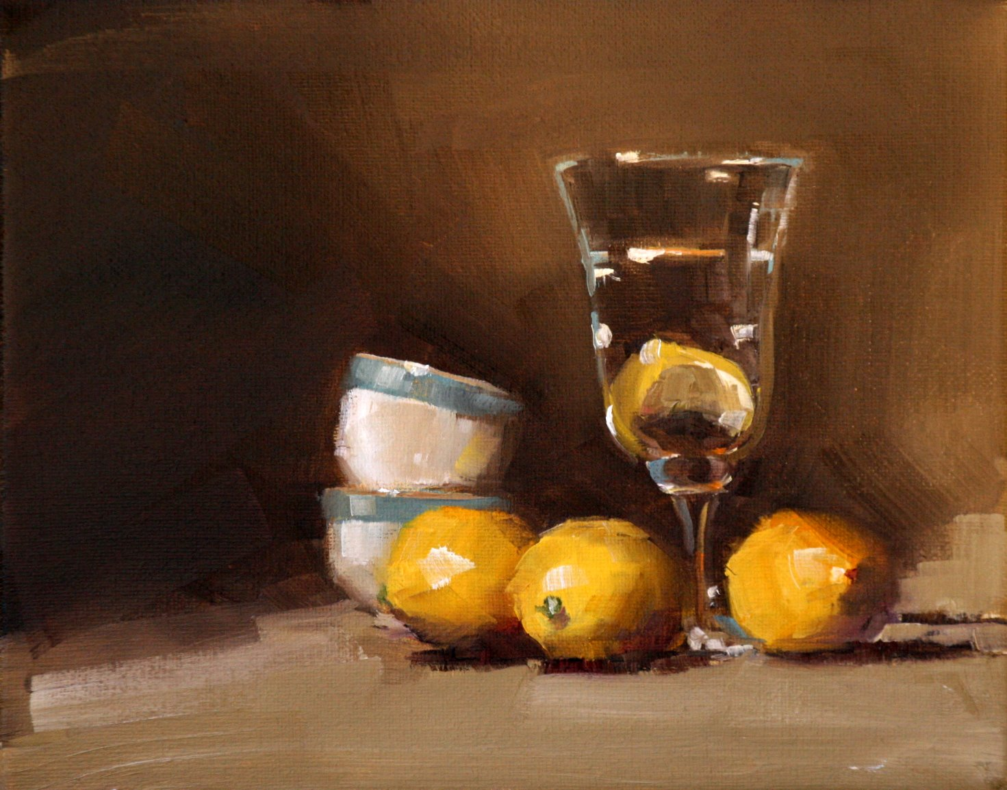 """lemon water"" original fine art by Carol Carmichael"