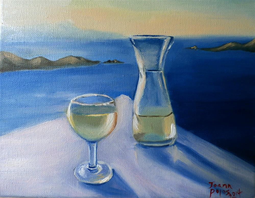 """white wine"" original fine art by Joann Polos"