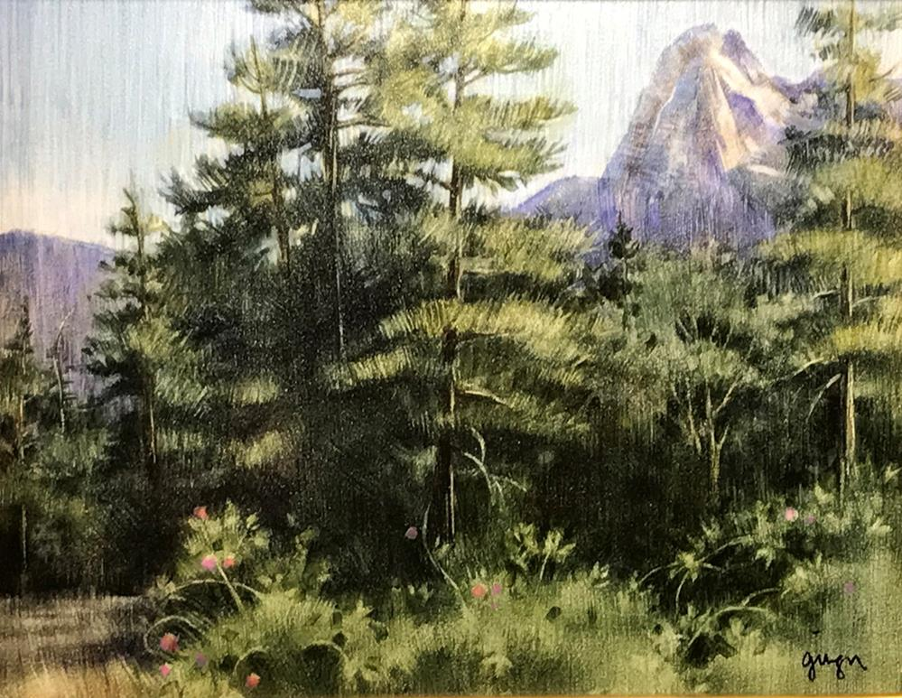 """Lily Rock from Tahquitz Meadow"" original fine art by Ginger Pena"