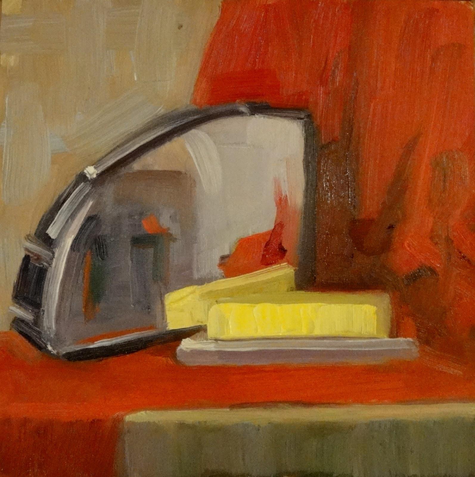 """Toastie, 6x6"" original fine art by Ann Feldman"