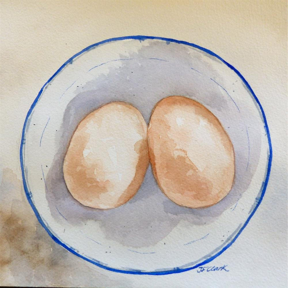 """Hardboiled"" original fine art by Judith Freeman Clark"