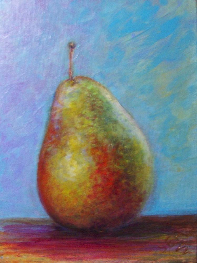 """""""2053 - Corella Pear"""" original fine art by Sea Dean"""