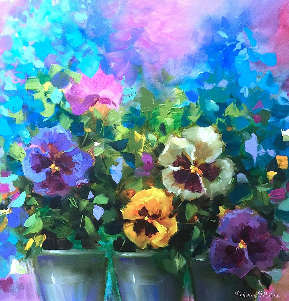 """Dance Pansy Dance and Paint With Me in Italy"" original fine art by Nancy Medina"