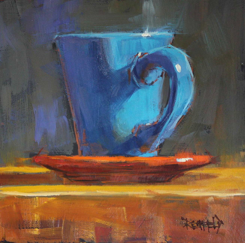 """""""Blue Chaos"""" original fine art by Cathleen Rehfeld"""
