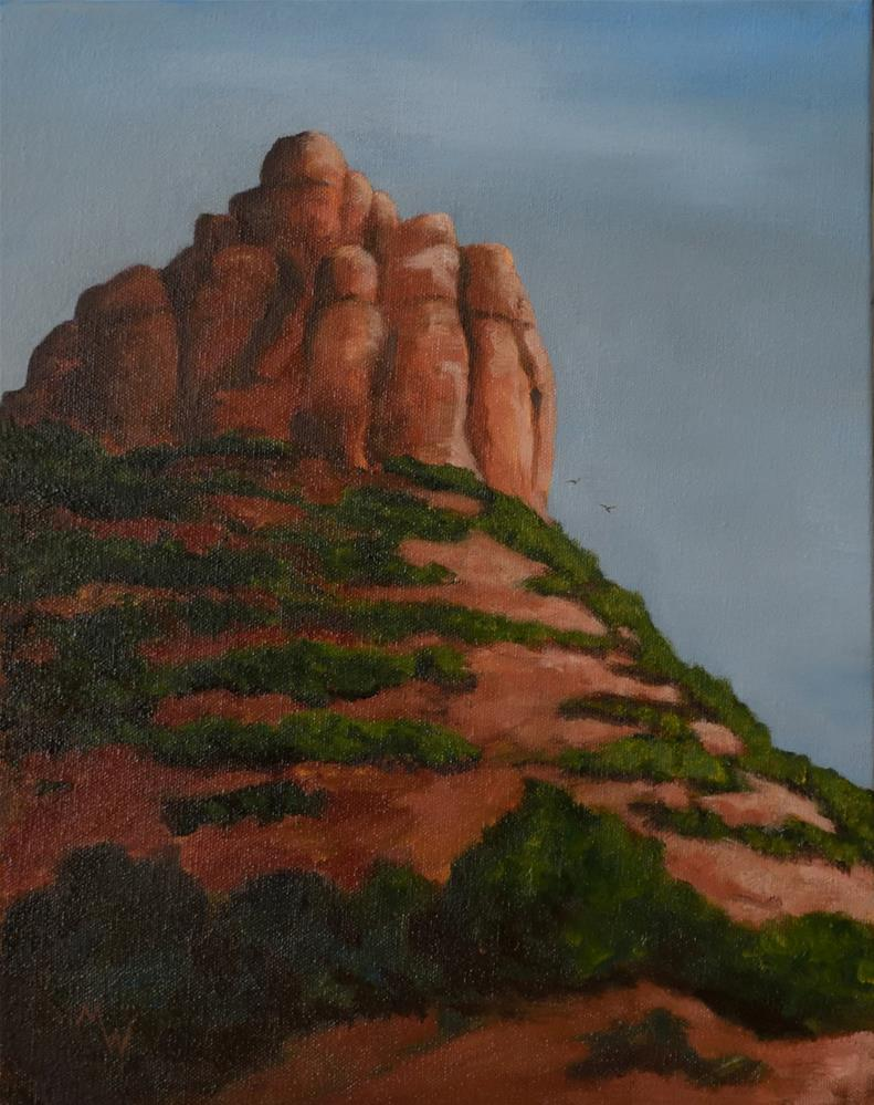 """Sedona View"" original fine art by Michelle Wolfe"