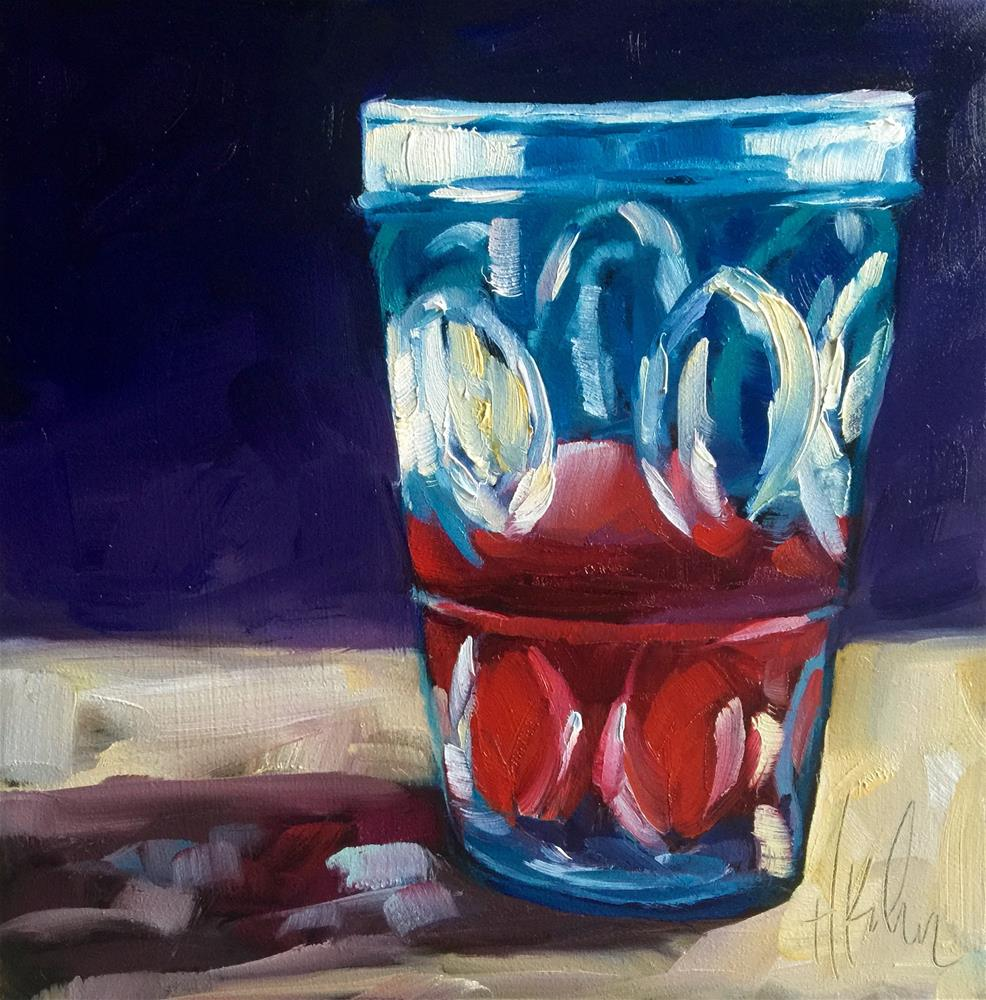 """Red Juice"" original fine art by Hallie Kohn"