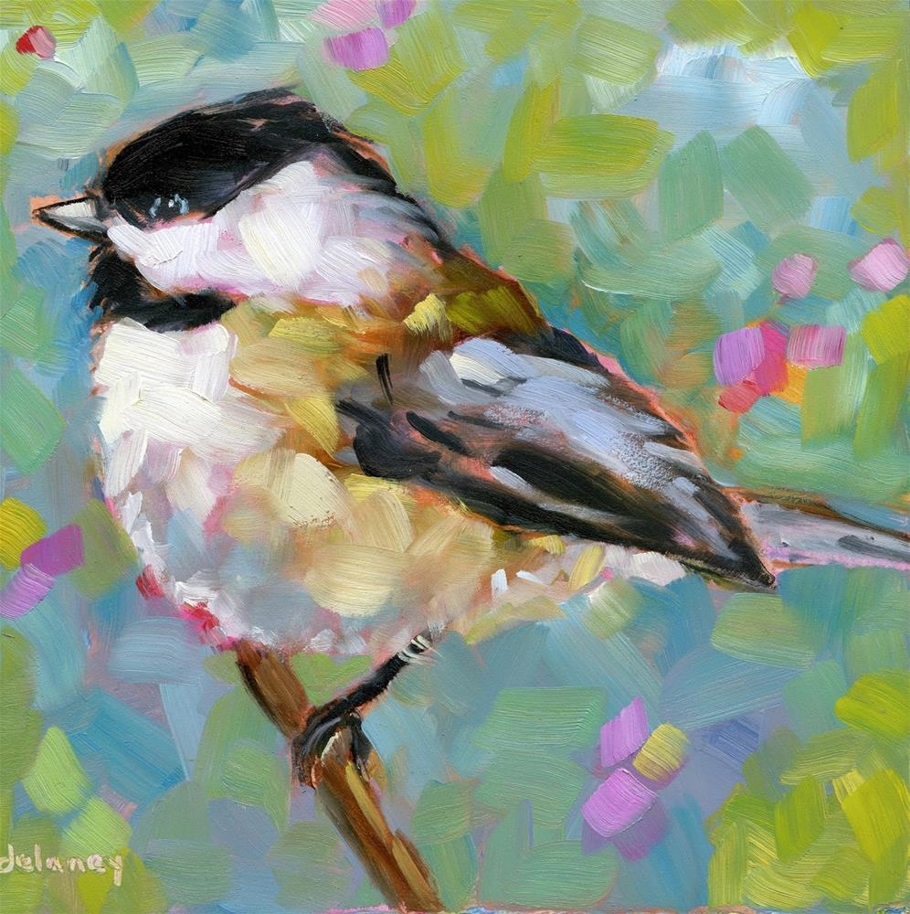 """PRETTY MISS BIRDIE"" original fine art by Jean Delaney"