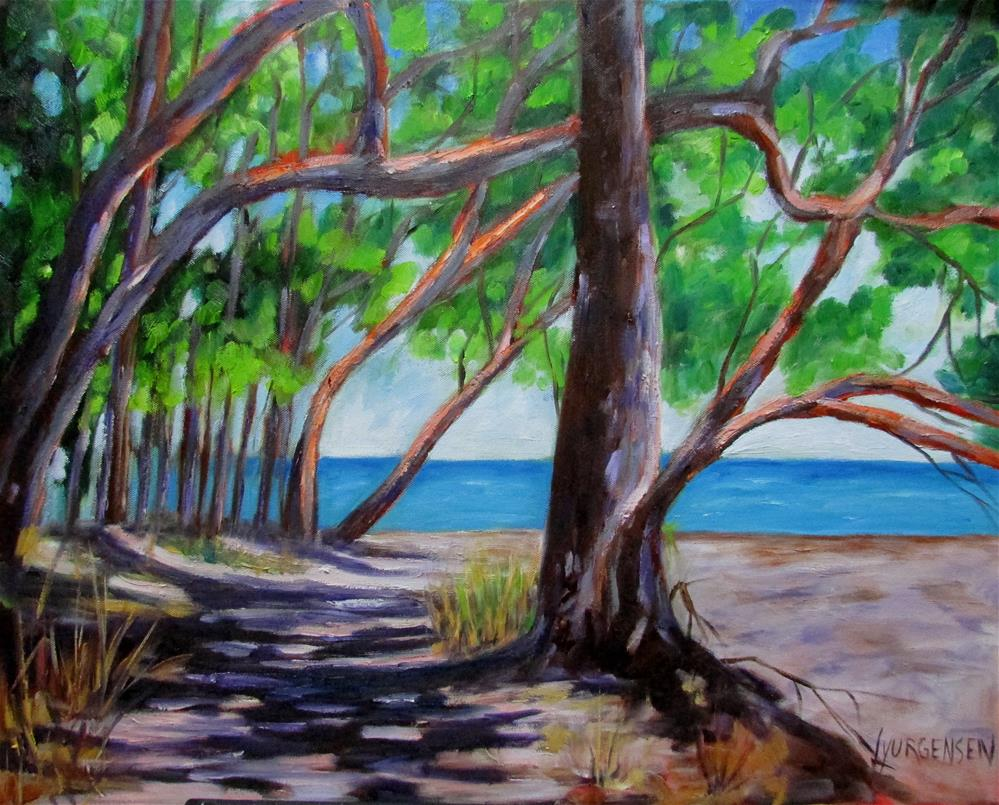 """24 x 30 inch oil Stand of Arbutus"" original fine art by Linda Yurgensen"