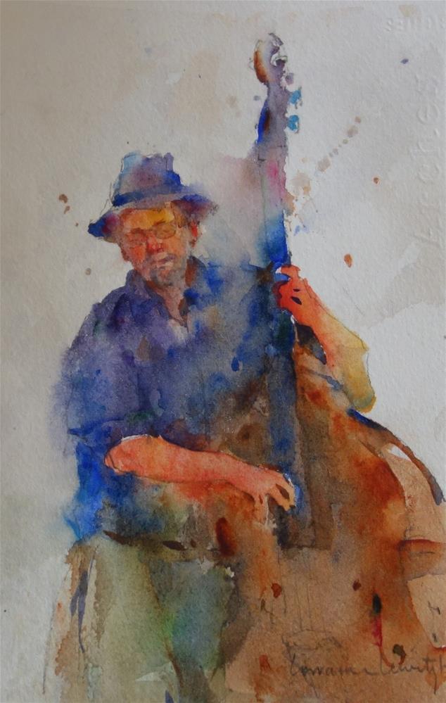 """Double Bass"" original fine art by Lorraine Lewitzka"