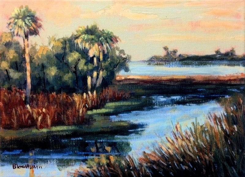 """Merritt Island Marshes"" original fine art by Linda Blondheim"