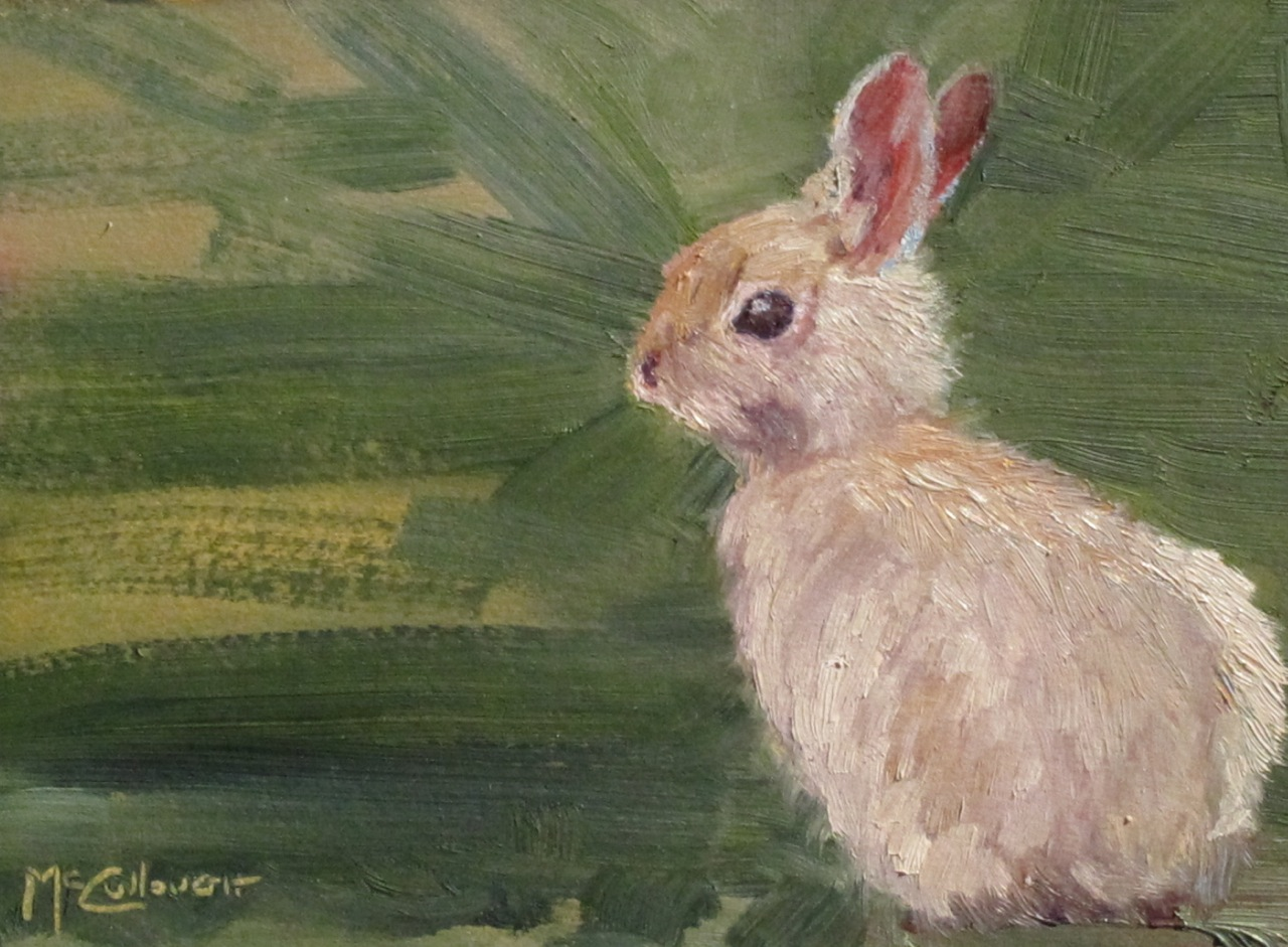 """Bunny at the Ranch"" original fine art by Susan McCullough"