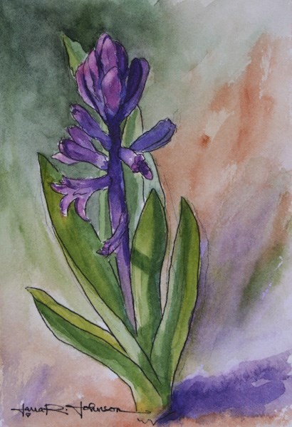 """Purple Hyacinth"" original fine art by Jana Johnson"