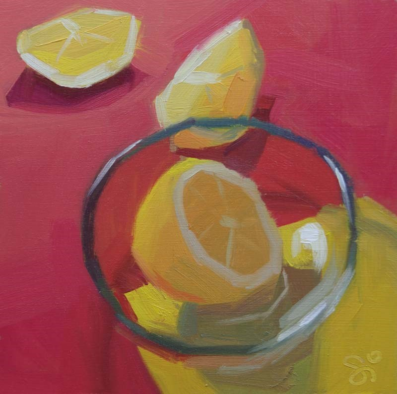 """One lemon"" original fine art by Istvan Schaller"