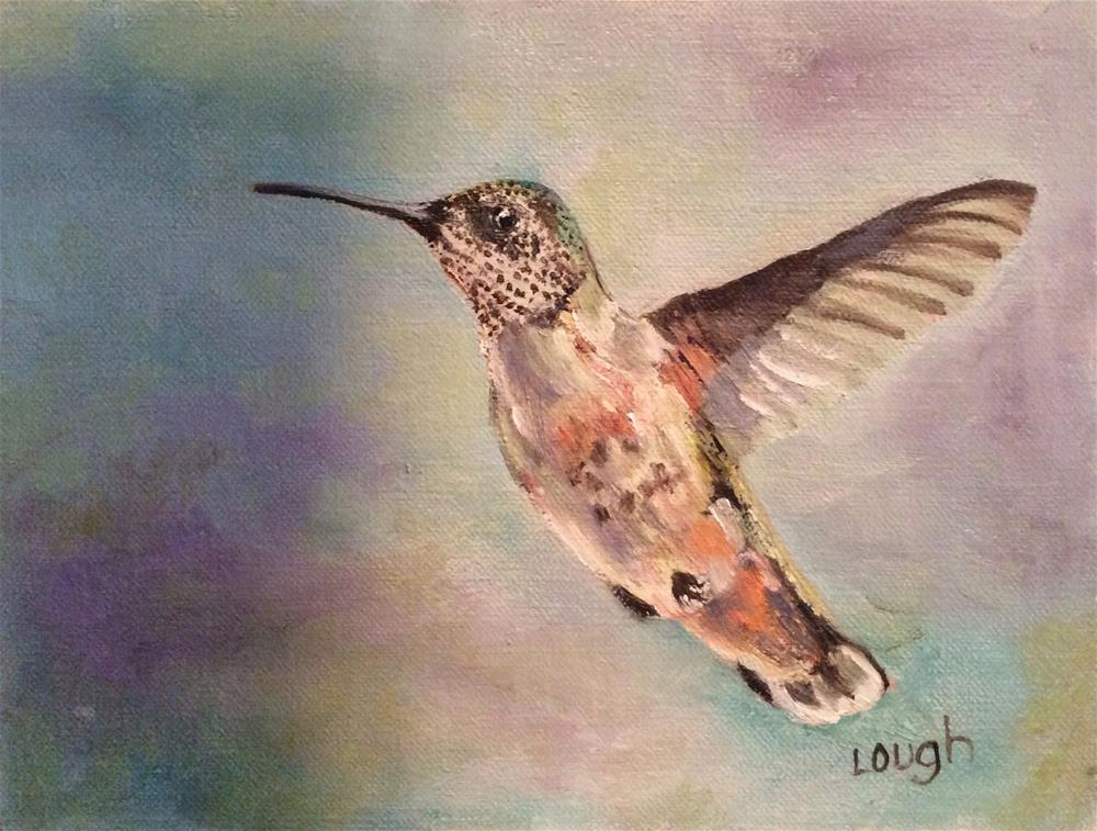 """Hummer III"" original fine art by Charlotte Lough"
