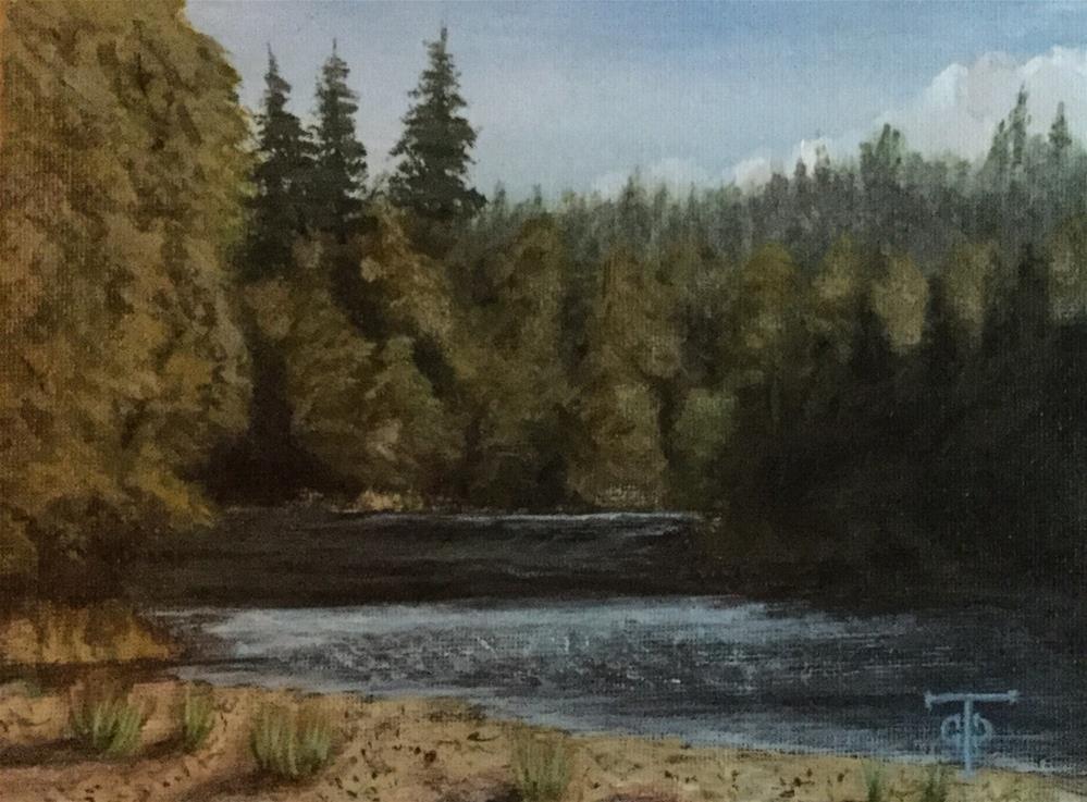 """""""Clackamas View"""" original fine art by T.C. Poole"""