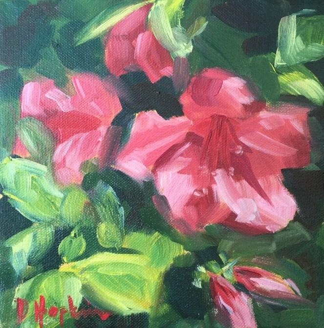 """Big, Bold, Beautiful Azaleas"" original fine art by Denise Hopkins"