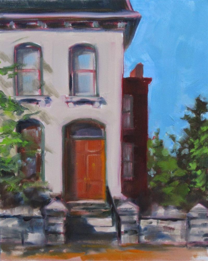 """Lemp Avenue plein air"" original fine art by Sandy Haynes"