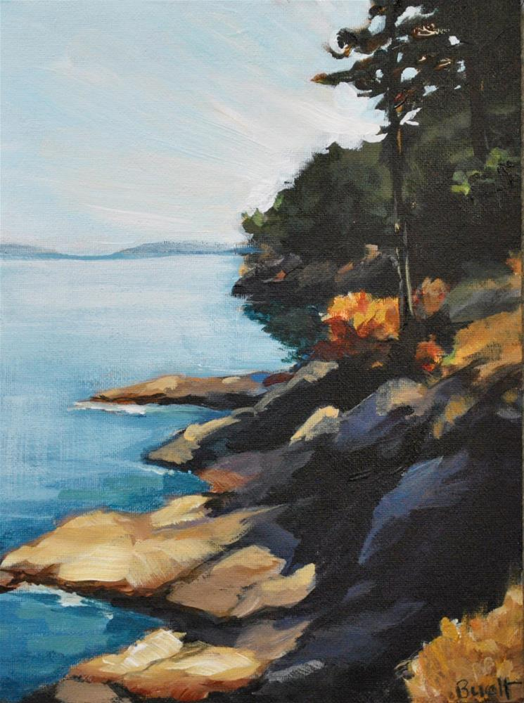 """Looking North from Turn Point"" original fine art by Shari Buelt"