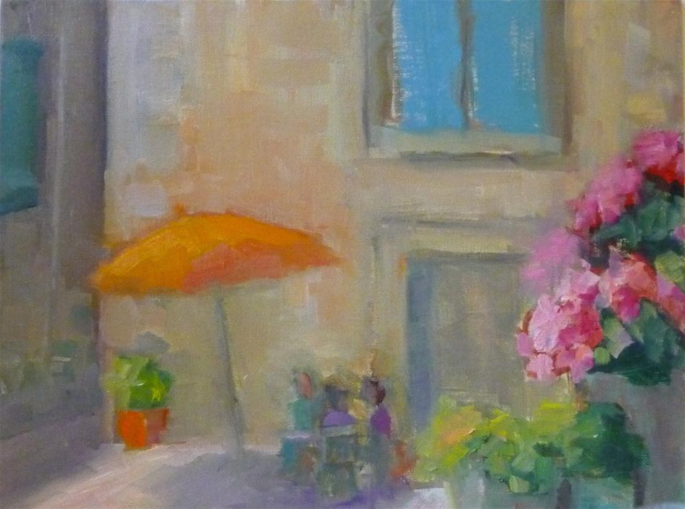 """French cafe"" original fine art by Carol Josefiak"