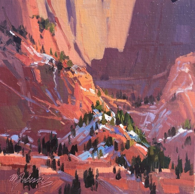"""Kolob Shadow Pattersn"" original fine art by Mary Jabens"