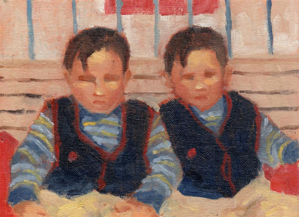 """Striped Shirts Lookalike"" original fine art by Marlene Lee"