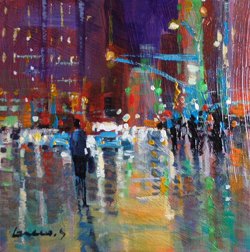 """in the nigth"" original fine art by salvatore greco"