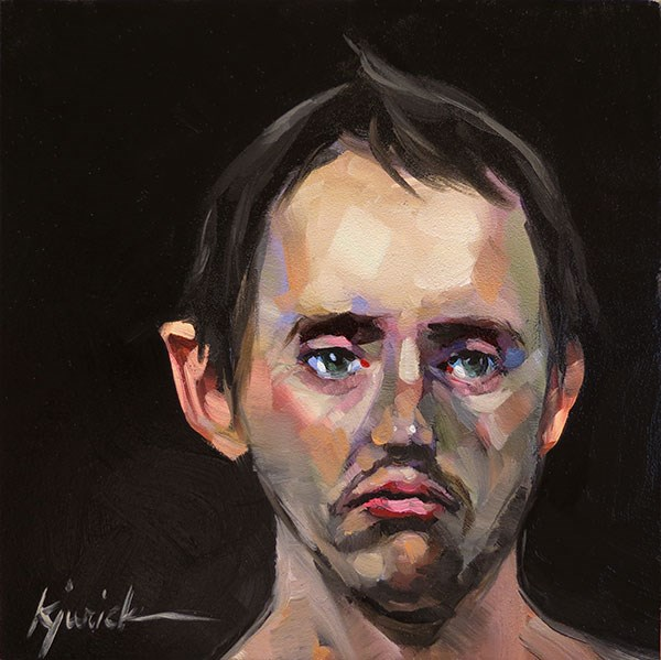 """200 Faces, No. 143"" original fine art by Karin Jurick"