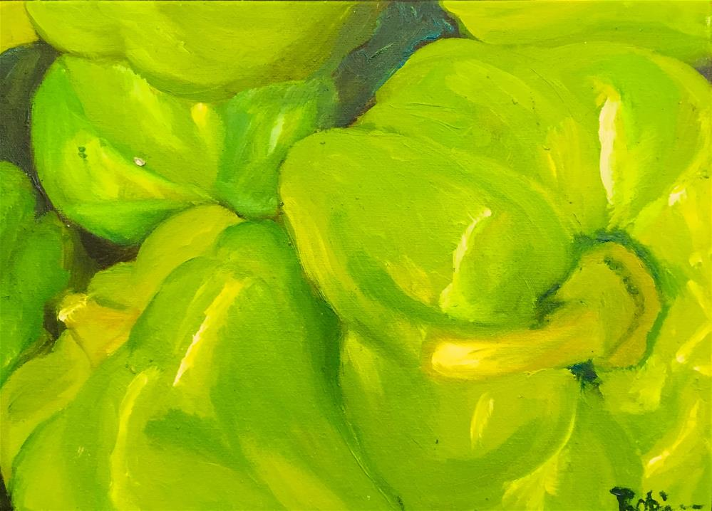 """Peppers"" original fine art by Renee Robison"