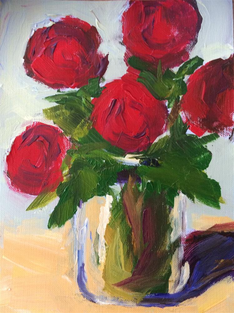 """Red Roses -5-"" original fine art by Naomi Bautista"