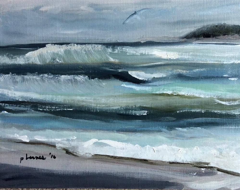 """Against the Wind"" original fine art by Patty Barnes"