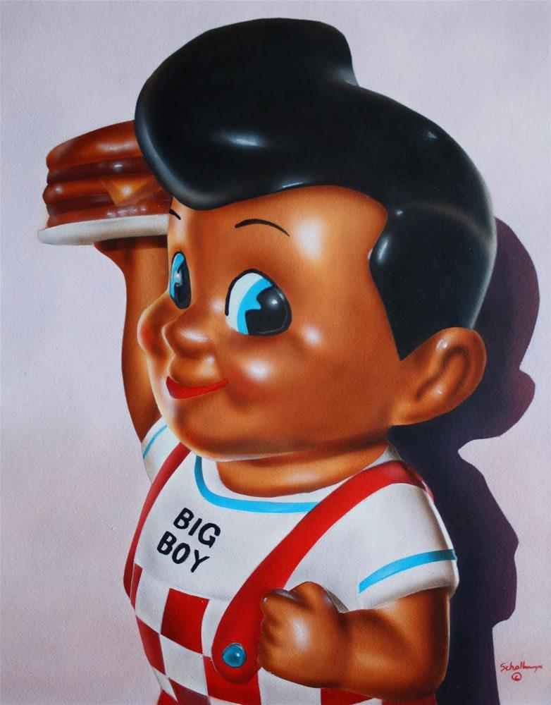 """Bob's Big Boy Toy"" original fine art by Fred Schollmeyer"