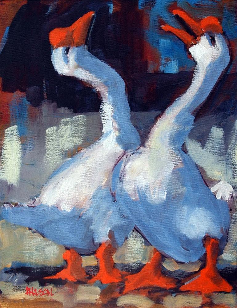 """Gooses"" original fine art by Rick Nilson"