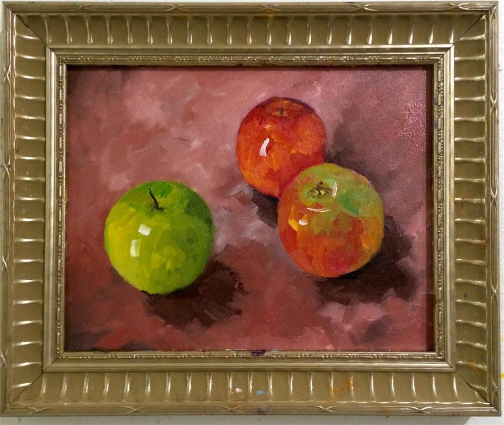"""Delicous apples"" original fine art by Ramya Sarveshwar"