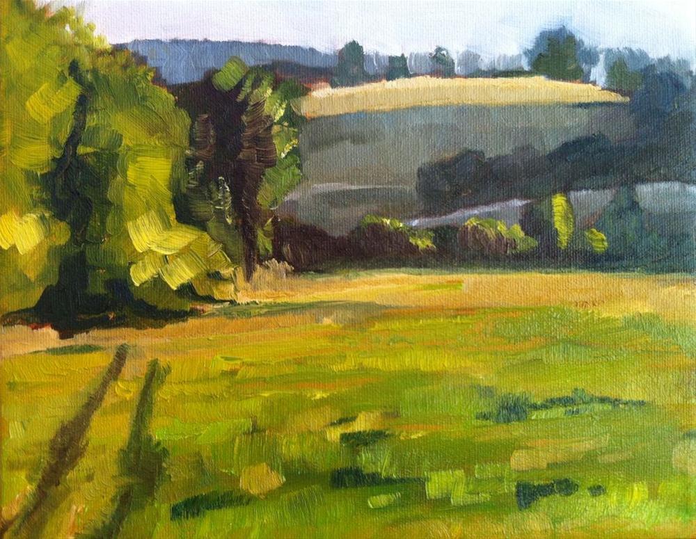 """Peaceful Meadow"" original fine art by Karen D'angeac Mihm"